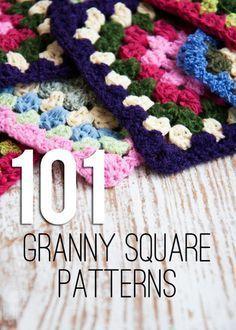 101 FREE Granny Square Crochet Patterns