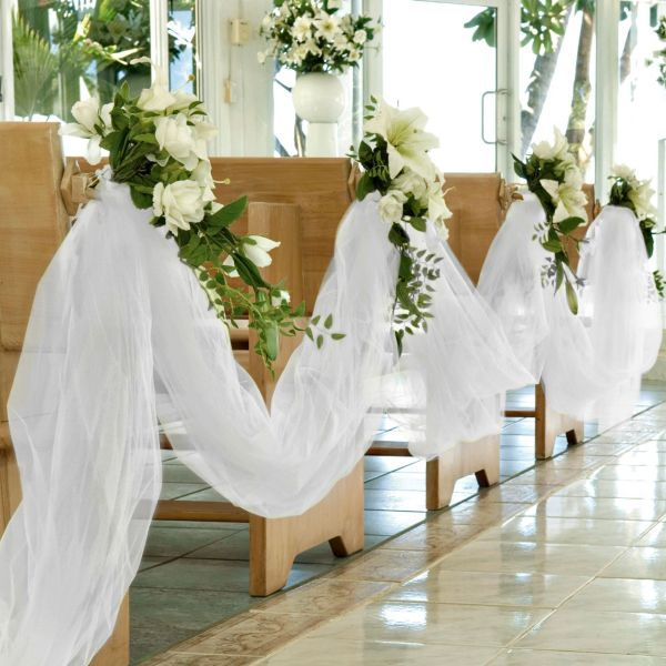 Tulle Wedding Altar: 16 Best Church Wedding Decoration Ideas Images On