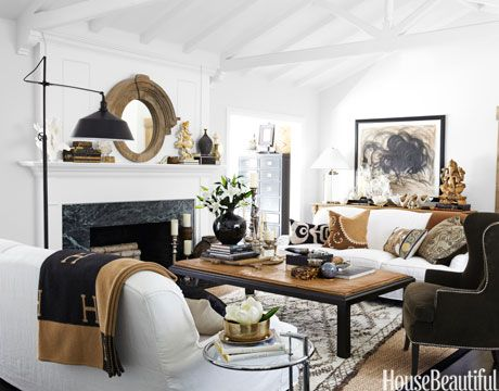 White with Wood Accents