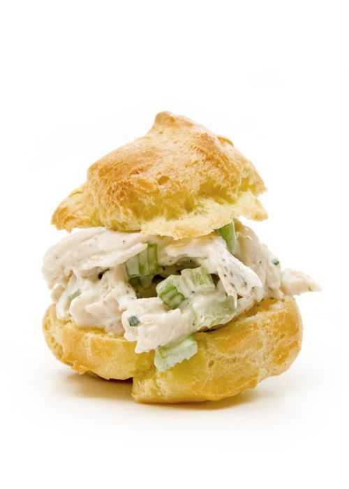 Chicken Salad Cream Puffs (good for showers or teas)