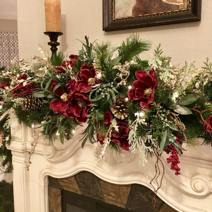 Christmas magnolia garland 9 foot 140 led light with multi