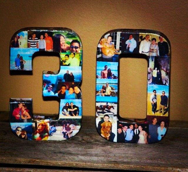 21st 40th Wedding Anniversary Birthday 30th 50th 75th Photo Letter Picture Collage party decoration Graduation 2015 pep rally '15 '16 Senior by InitialRemembrance on Etsy https://www.etsy.com/listing/222601471/21st-40th-wedding-anniversary-birthday