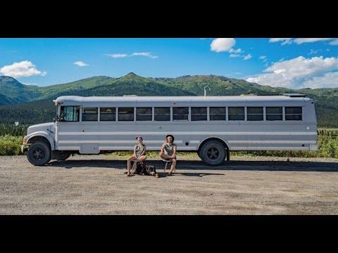 Artsy Couple Turned a School Bus into a Loft on Wheels - tiny house living