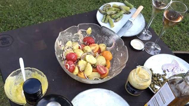 fransk potatissallad recept