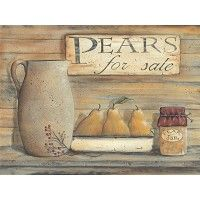 Pears for Sale by Pam Britton 16x12 in. Art prints