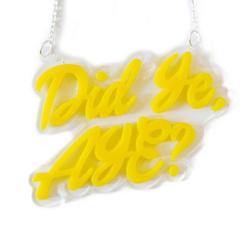 Did ye, Aye? Double layer necklace