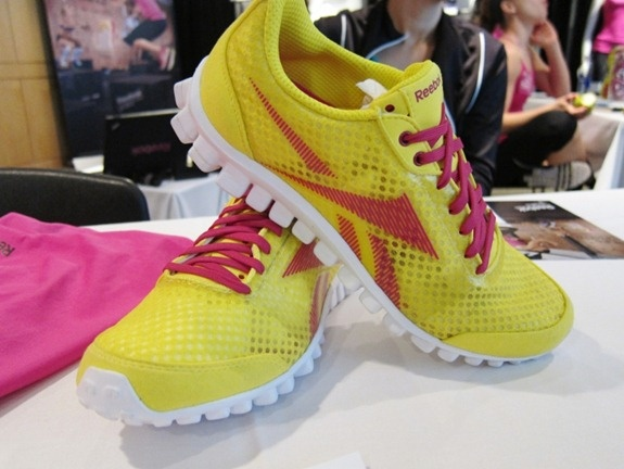 reebok shoes..I have the same shoe but opposite colors...pink with yellow accents. So comfortable!!