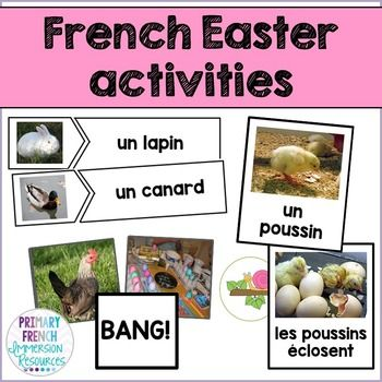 French - Easter Flashcards and Games - Les jeux de Paques. Fun, simple French games for French Core or French Immersion students!