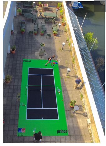 Sport Court On Roof Deck Tennis Games Sport Court