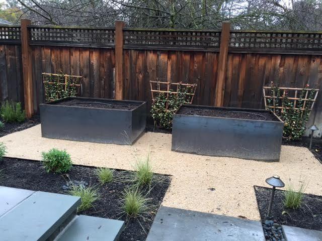 Lovely Custom Corten Steel Raised Garden Beds