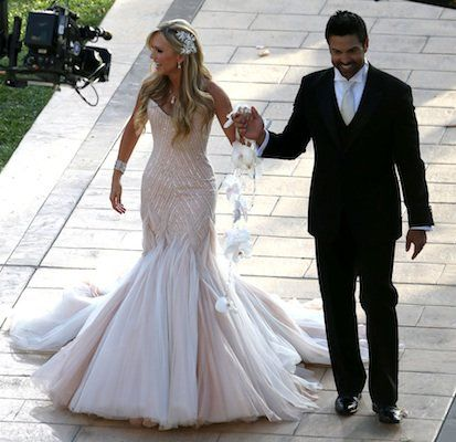 Tamra Barney and Eddie Judge: Real Housewives of Orange County star Tamry Barney married Eddie Judge, a fitness instructor, in a lavish ceremony on June 15, 2013 that included Barney's four children. All of Barney's Real Housewives castmates attended the wedding at St. Regis Monarch Beach in Dana Point, CA. Some of our fave details from the big event: