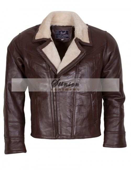 B3 Bomber Classic Brown Men Leather Jacket
