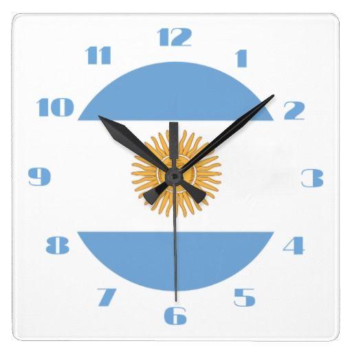 Argentinian flag clocks