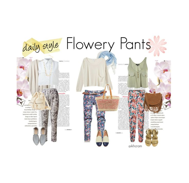 daily style : flowery pants!
