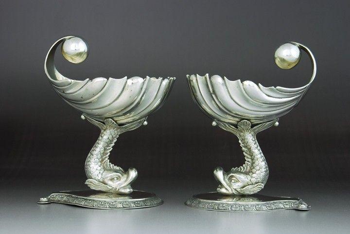 Pair of Biedermeier salts, Vienna