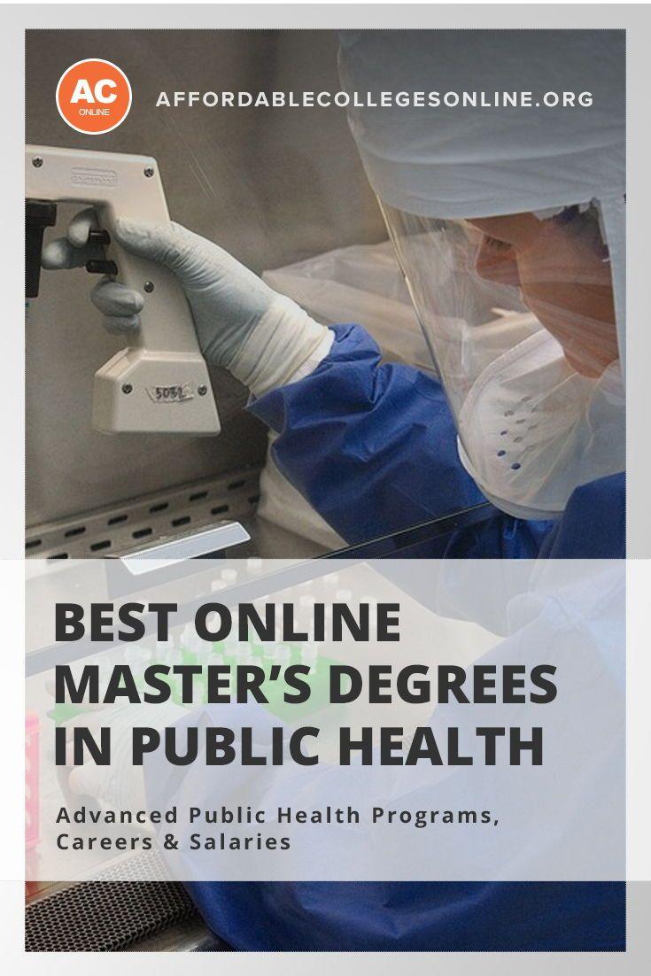 Get An Online Master S In Public Health Best Programs In 2018 Online Masters Online Education