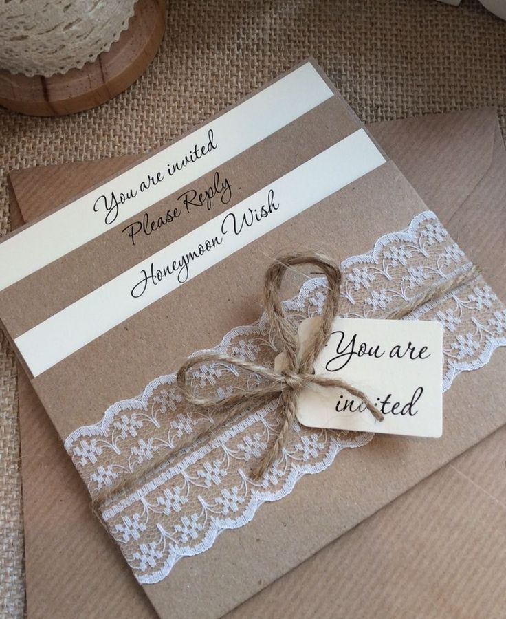 1 Vintage/Shabby Chic Style lace Pocket 'Rebecca' Wedding Invitation Sample in Home, Furniture & DIY, Wedding Supplies, Cards & Invitations | eBay
