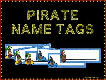 FREE-- Enjoy these pirate theme name tags- more than 6 different types to choose from!Please rate these and follow my store for more fun products!