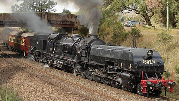 Steam locomotive No. 6029 'The Garratt' announced for the Hunter Valley Steamfest in Australia