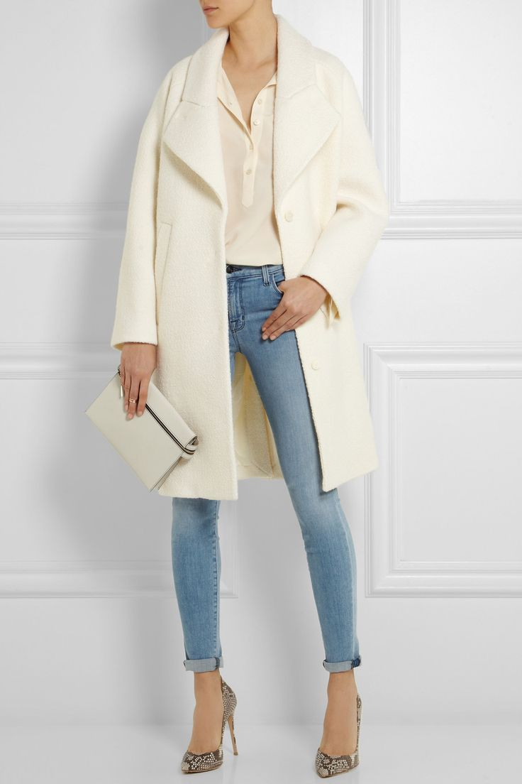 Buy Carven Women's White Woolbouclé Cocoon Coat, starting at $1550. Similar products also available. SALE now on!