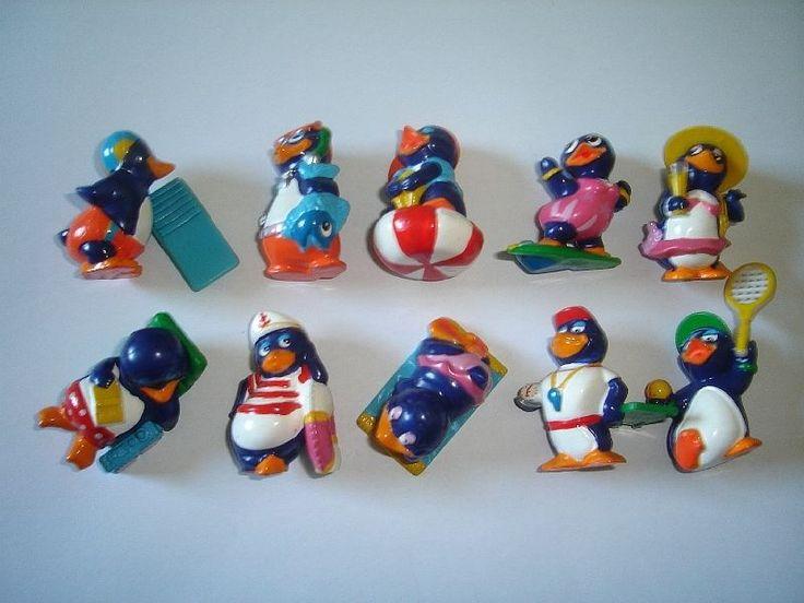Kinder Surprise Set Pingui Beach Penguins Vacation 1994 Figures Collectibles | eBay