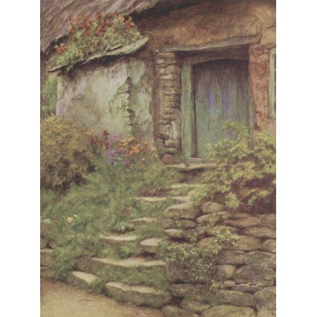 Happy England 1904 The condemned cottage Canvas Art - Helen Allingham (24 x 36)