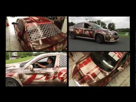 Zombie Escape Vehicle! This is a Subaru WRX wrapped for the Run For Your Lives 5K Obstacle Course