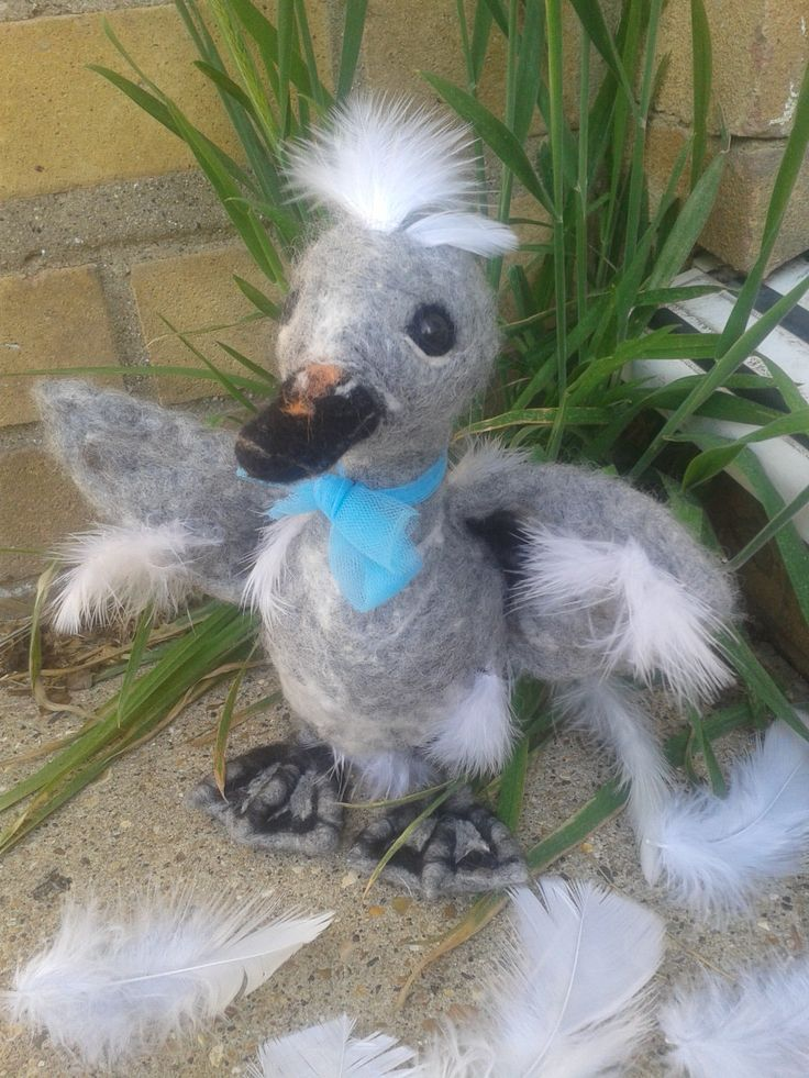The Ugly Duckling- Needle felt Sculpt by PuppyduckMakes on Etsy