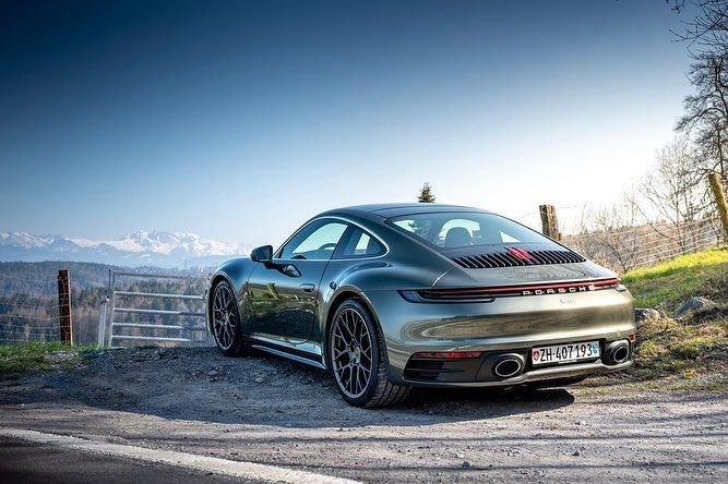 To Celebrate 10k Followers More Pictures Of That Beautiful Aventurine Green 992 From Switzerland In Daylight The Colo Cool Sports Cars Porsche Vintage Porsche