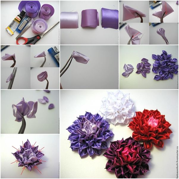 17 best images about kanzashi flowers on pinterest