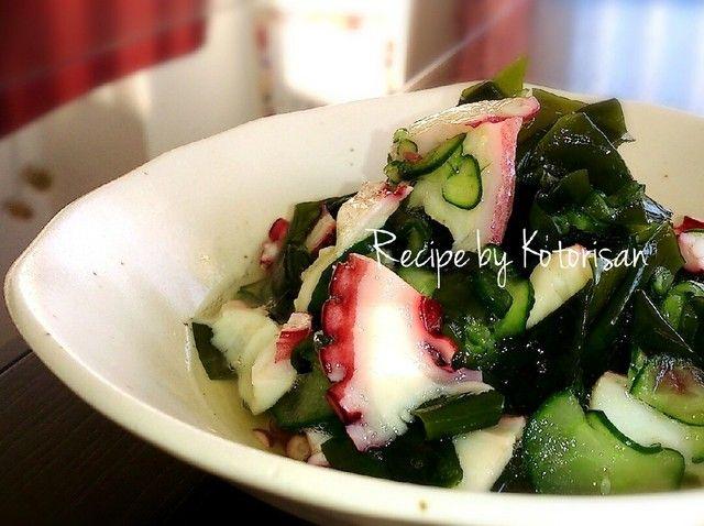 *定番副菜♡たこと胡瓜とわかめの酢の物