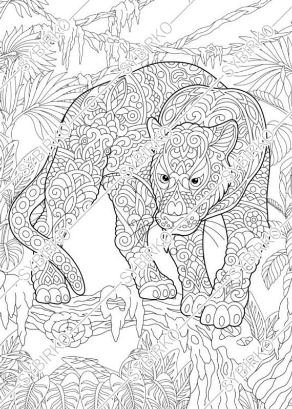 Coloring Pages Black Panther Puma Animal Coloring Book For Etsy Animal Coloring Books Animal Coloring Pages Coloring Books