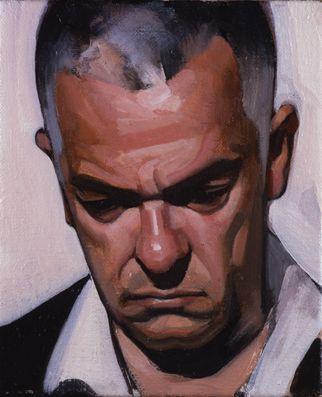 "Stephen Conroy, ""J.K."" 2008, oil on canvas, 30.5 x 25.4cm"