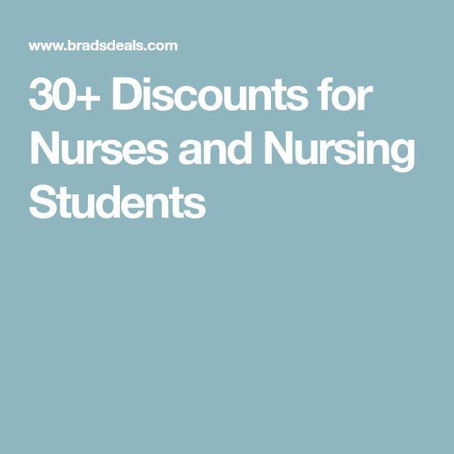 30+ Discounts for Nurses and Nursing Students