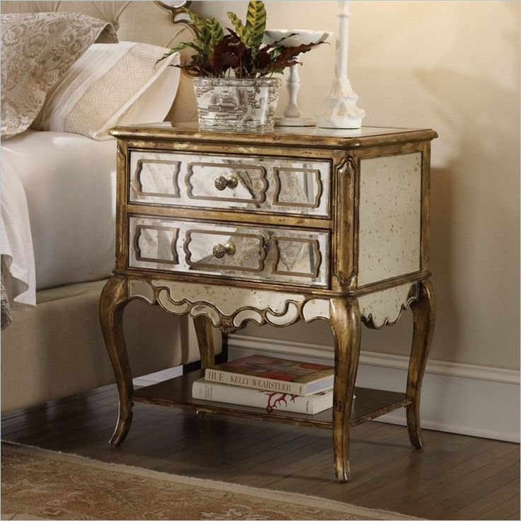 shop for hooker furniture sanctuary mirrored leg and other bedroom nightstands furniture create your own personal sanctuary