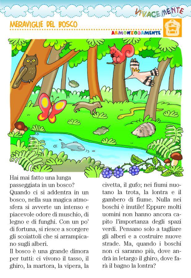 È importante insegnare ai bambini ad amare gli animali, difendendo la loro dimora, rispettando i boschi e la natura.    Illustrazione di Ma...