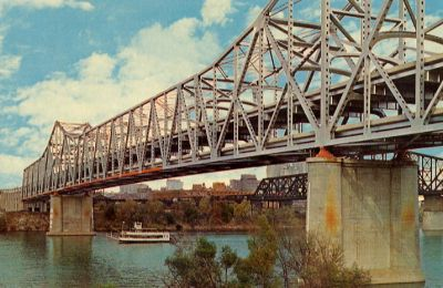 Brent Spence Bridge, Cincinnati - drove across this bridge to Ludlow and  Newport for 6 years when I taught schools in those two cities.