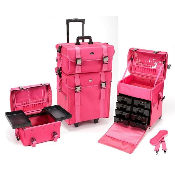 This two-piece professional makeup case may look like a big softie, but dont let that make you think it cant handle your vast collection of cosmetics and beauty