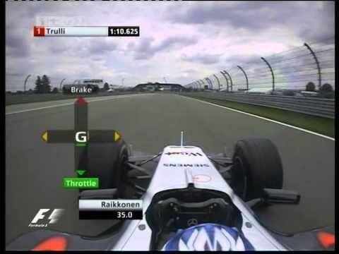 F1 USA 2005 Qualifying - Kimi Raikkonen Lap