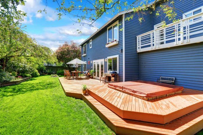 25 melhores ideias de terrasse sur lev e no pinterest piscine resine p ti - Construire terrasse surelevee ...