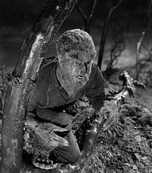 Lon Chaney, Jr. in Frankenstein Meets the Wolf Man