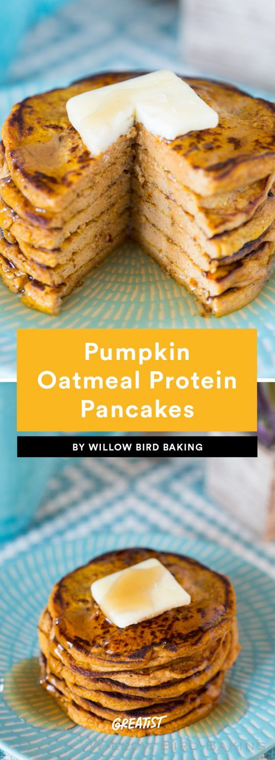 Chocolate. Crunch. Flapjacks.* (*Still healthy.) #healthy #pancake #recipes http://greatist.com/eat/protein-pancake-recipes
