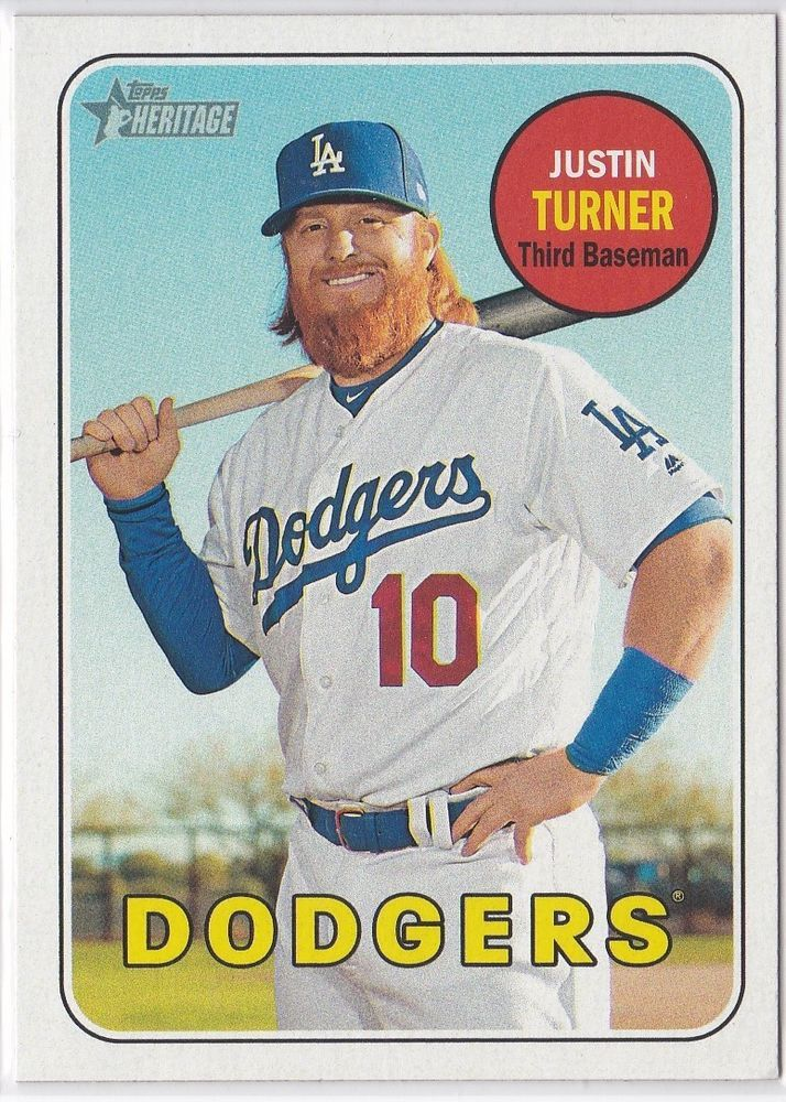 2018 Topps Heritage Los Angeles Dodgers Justin Turner