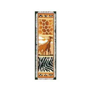 Stickpackung Lesezeichen Giraffe, gezählter Kreuzstich