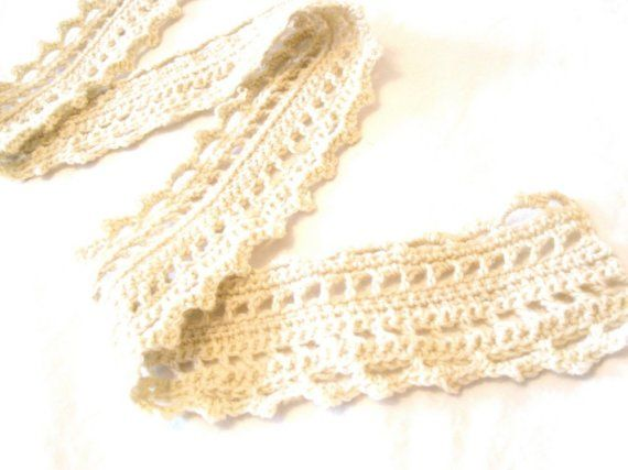 crochet lace scarf in light wool for women and by BaruchsLullaby