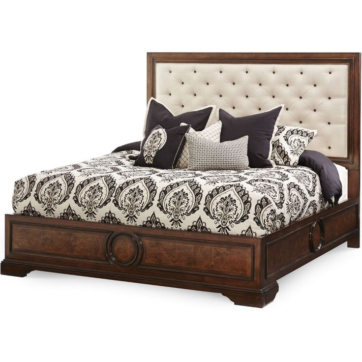 Galleria Furniture Oklahoma City: AICO Lavelle Melange Wood Trim Tufted Sofa By Michael