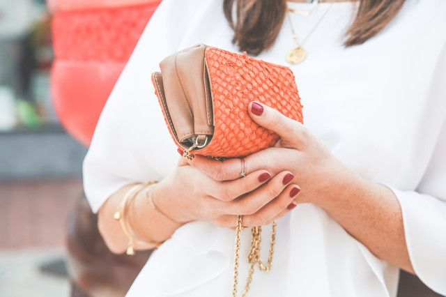 Vicky Heiler with her ESCADA clutch