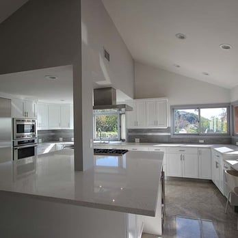 Gray and White Kitchen -Photo of Pearl Remodeling - Los Angeles, CA ...