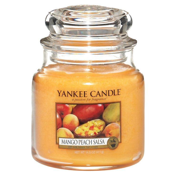 Moyenne Jarre / Bougie parfumée Compote Mangue et Pêche / Mango Peach Salsa Medium Jar - Yankee Candle Yankee Candle : EcoDesignConcept.com votre galerie de produits naturels, ecologiques, ethiques en ligne ! Large choix d'objets ecodesign, bio