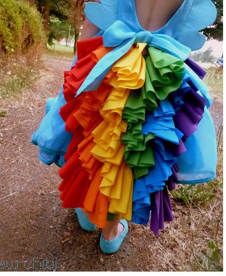 My Little Pony inspired Twirl Strip Dress